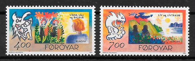 filatelia Europa Feroe 1995