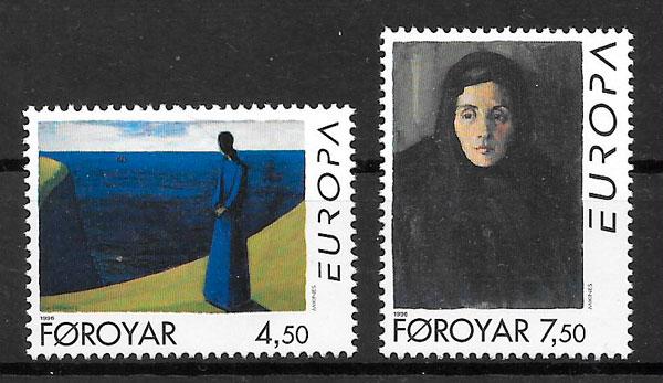 colección sellos Europa Feroe 1996