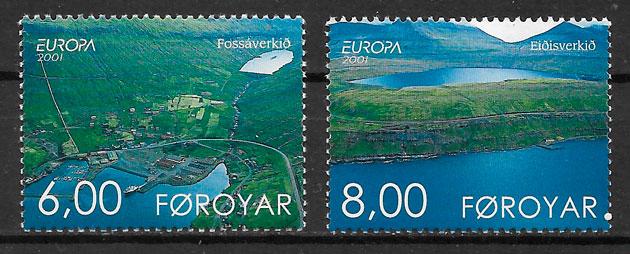 sellos Europa Feroe 2001