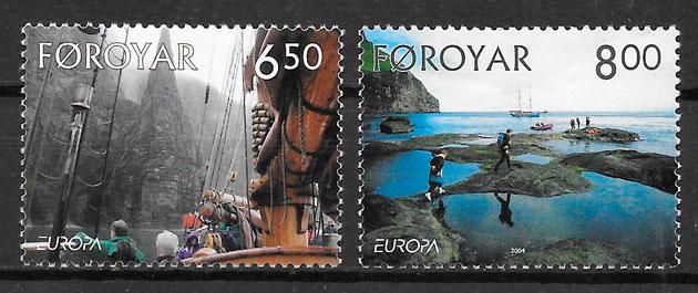 sellos Europa Feroe 2004