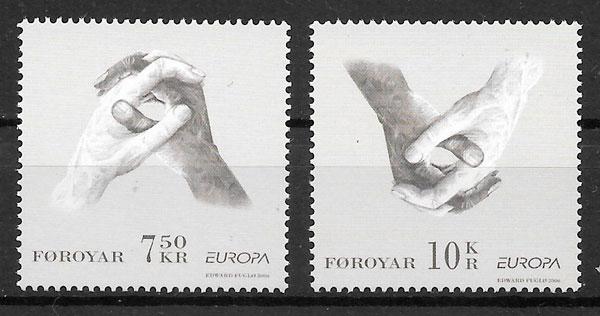 filatelia colección Europa Feroe 2006