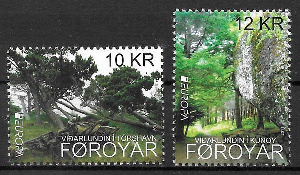 colección sellos Europa Feroe 2011
