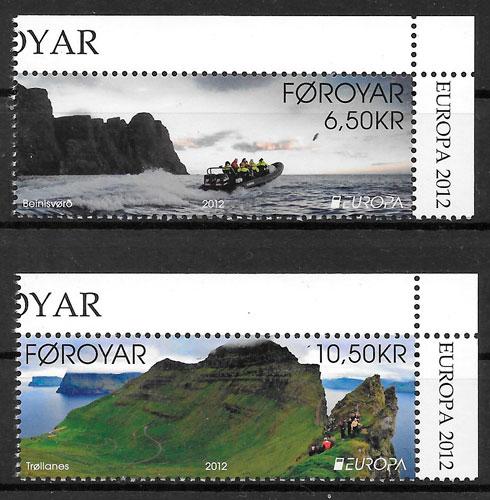 sellos Europa Feroe 2012