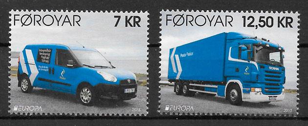 sellos Europa Feroe 2013