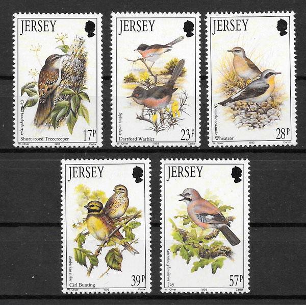 sellos fauna Jersey 1993