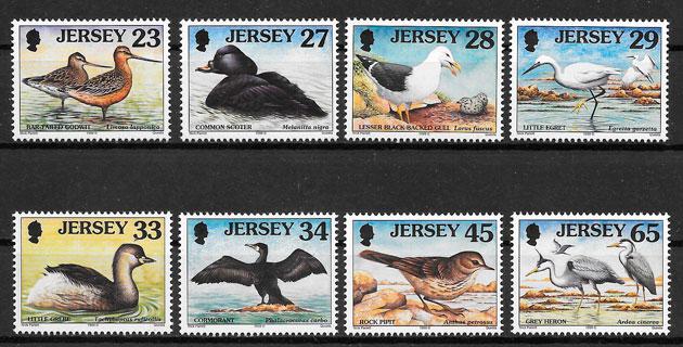 sellos fauna Jersey 1999