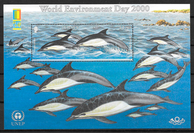 filatelia fauna Jersey 2000