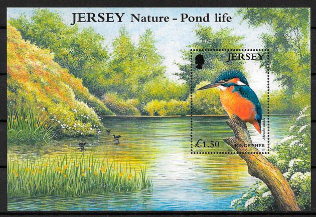 filatelia fauna Jersey 2001