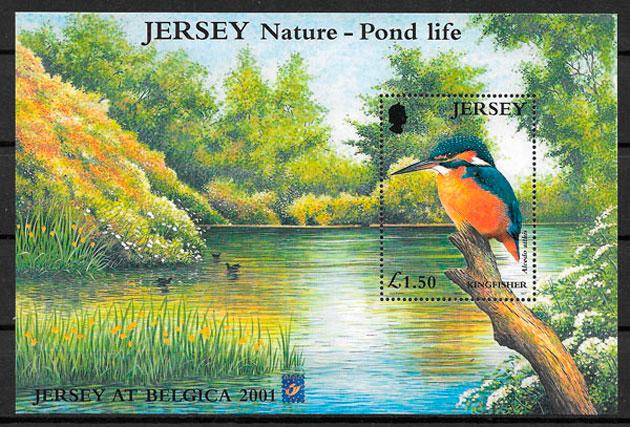sellos fauna Jersey 2001