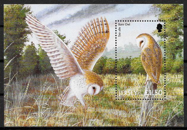 colección sello fauna Jersey 2001