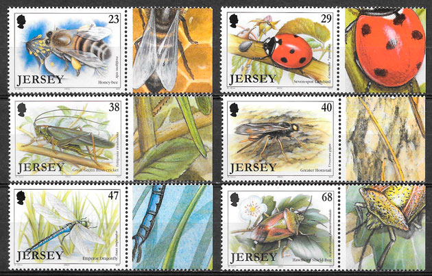 sellos fauna Jersey 2003