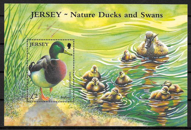 filatelia fauna Jersey 2003