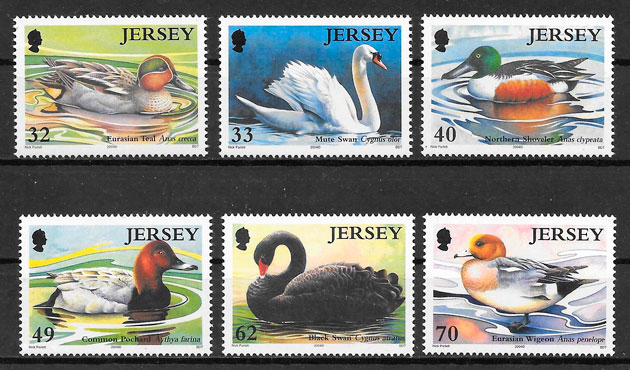 sellos fauna Jersey 2004