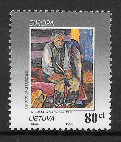 sellos Europa Lituania 1993
