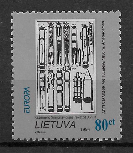 sellos Europa Lituania 1994