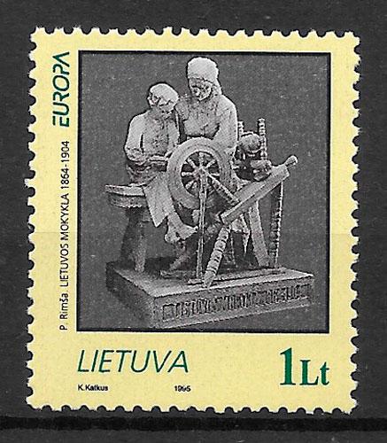 sellos Europa Lituania 1995