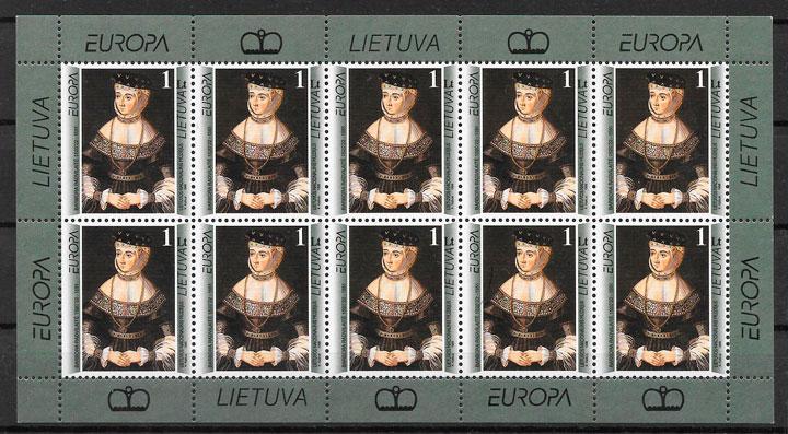 sellos Europa Lituania 1996