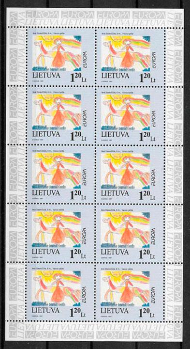sellos Europa Lituania 1997