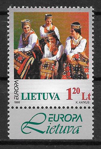 filatelia Europa Lituania 1998