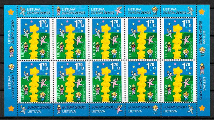 filatelia Europa Lituania 2000