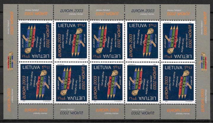 colección sellos Europa Lituania 2003