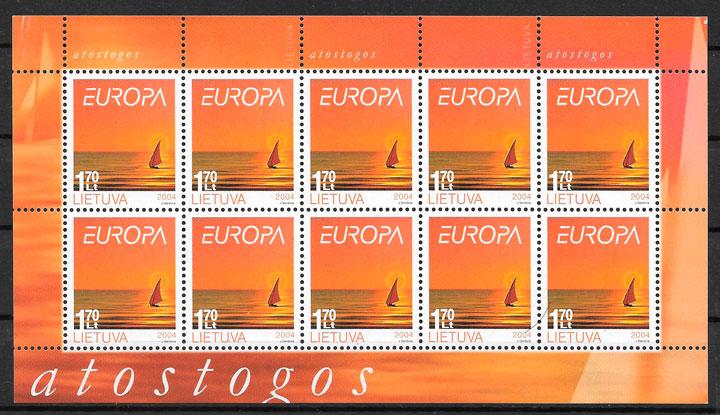 colección sellos Europa Lituania 2004