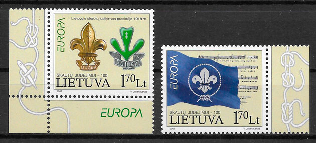 colección sellos Europa Lituania 2007