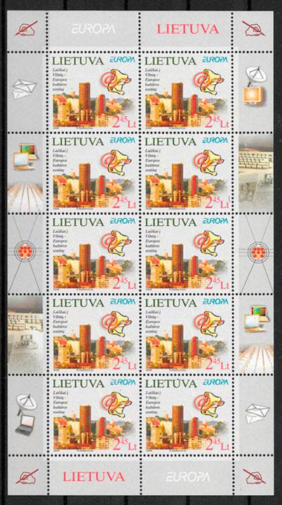 filatelia Europa Lituania 2008