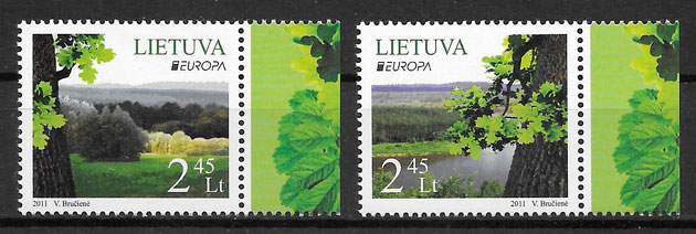 sellos Europa Lituania 2011
