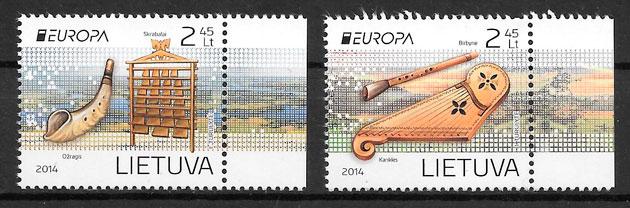 filatelia Europa Lituania 2014