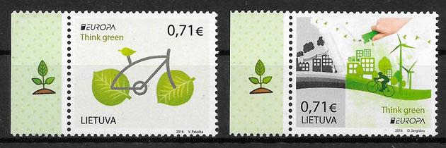 sellos Europa Lituania 2016