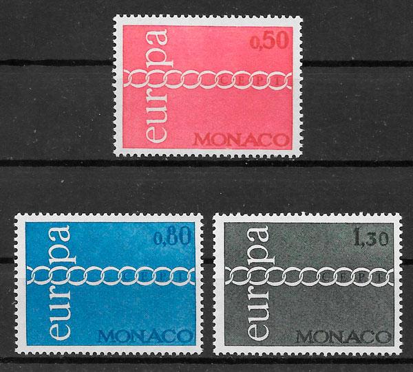 filatelia colección Europa Mónaco 1971