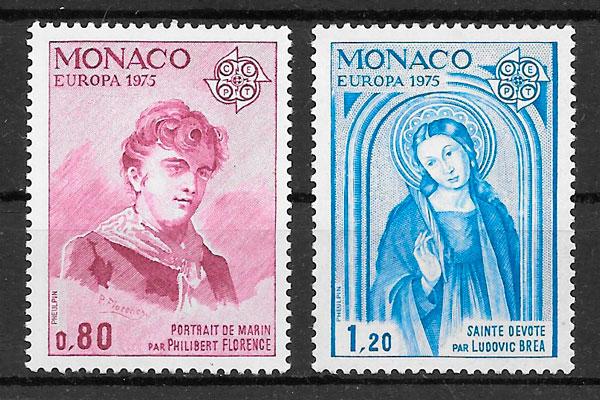 filatelia Europa monaco 1975