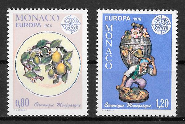 FILATELIA COLECCION EUROPA MONACO 1976