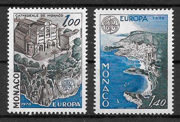 sellos Europa Monaco 1978