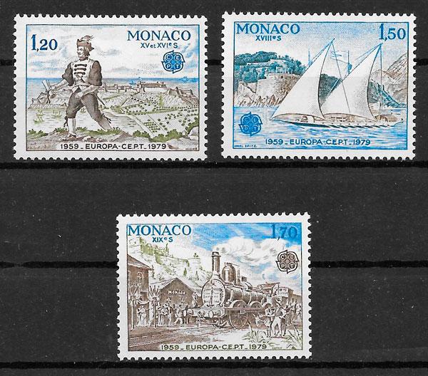 sellos Europa Monaco 1979