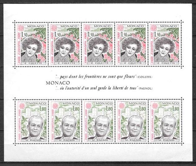 sellos Europa Monaco 1980