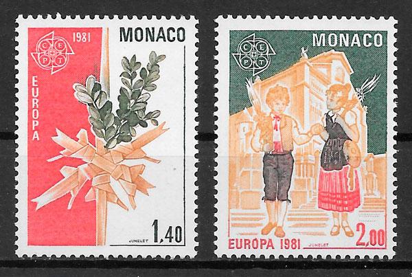 filatelia Europa Monaco 1981