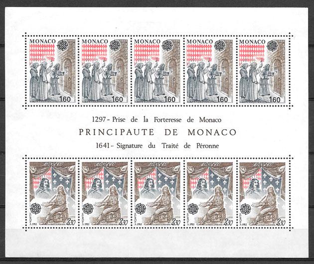 filatelia Europa Monaco 1982