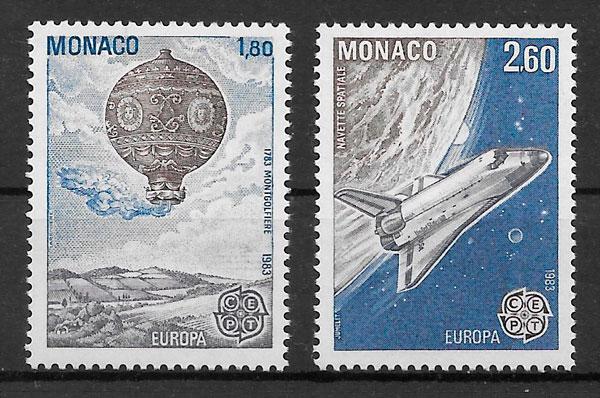 filatelia coleccion Europa Monaco 1983