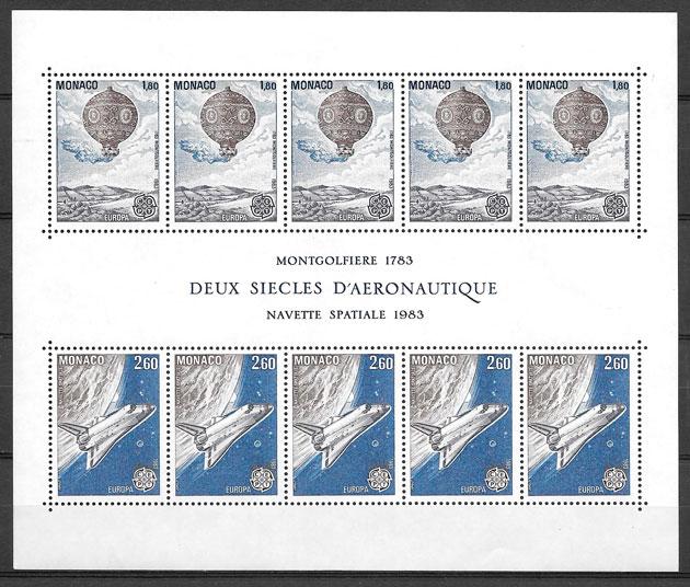 sellos Europa Monaco 1983