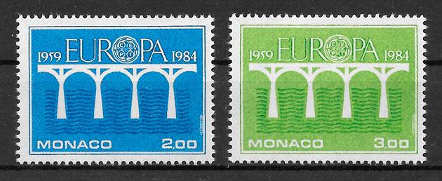 filatelia coleccion Europa Monaco 1984