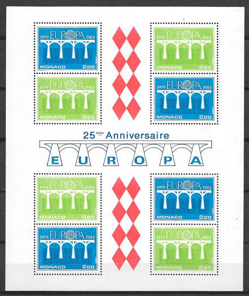 sellos Europa Monaco 1984
