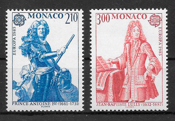 filatelia coleccion Europa Monaco 1985
