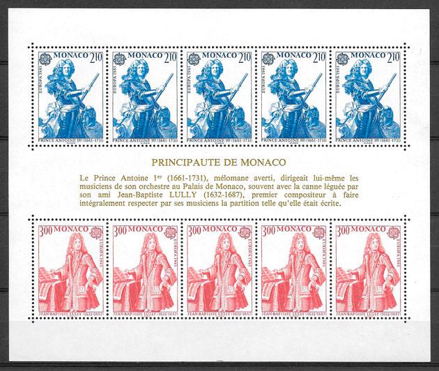 sellos Europa Monaco 1985