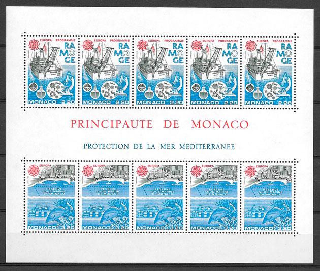 filatelia Europa Monaco 1986