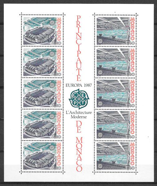 filatelia Europa Monaco 1987