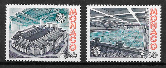 filatelia coleccion Europa Monaco 1987