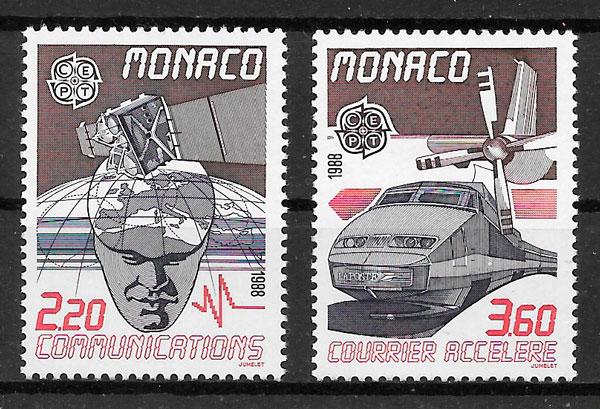 coleccion sellos Europa Monaco 1988