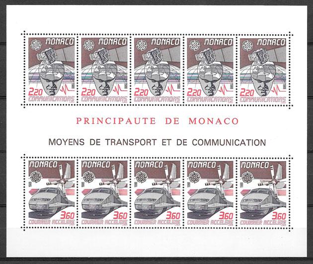 filatelia Europa Monaco 1988